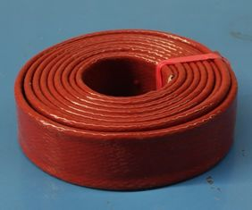 China Alkali Free Silicone Rubber Fiberglass Sleeving Flame Retardant Noise Reduction supplier