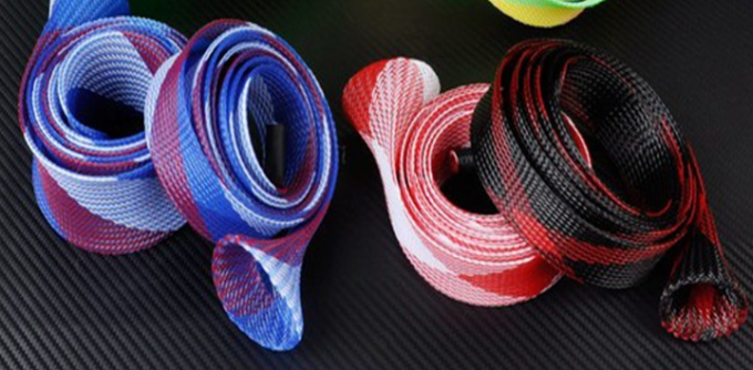 Cable Sleeving Fishing Rod Protector , Fishing Rod Socks Sleeves Nylon Material