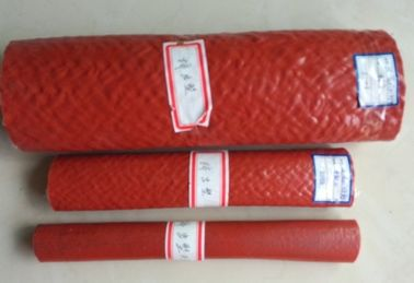 Heat Resistant Silicone Rubber Fiberglass Sleeving , High Temperature Fire Sleeves
