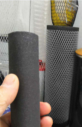 Extruded PE Mesh Protective Netting Sleeve 5-150mm Width For Carbon Rod Filter